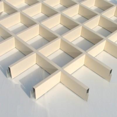 Грильято стальной белый 150х150x30