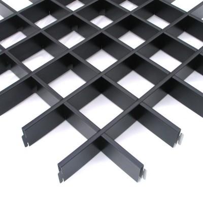 Грильято стальной черный 120х120x30